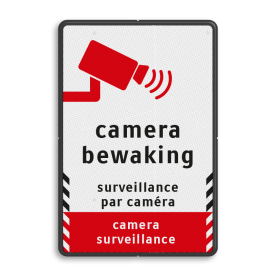 Verkeersbord camerabewaking - 3 talen cameratoezicht, VPRO
