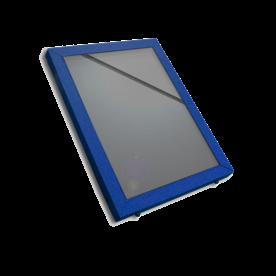 Vitrinebord aluminium met voorruit posterbord, vitrinebord