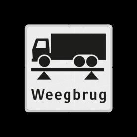 Informatiebord Algemeen informatiebord Informatiebord wit/zwart - weegbrug - OBD08 weegbrug, vracht, OBD08, OBD, vrachtwagen