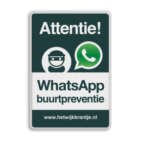 WhatsApp Attentie Buurtpreventie verkeersbord 02 Whats App, WhatsApp, watsapp, preventie, attentie, velserbroek