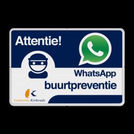 WhatsApp Attentie Buurtpreventie verkeersbord + Logo / Beeldmerk Whats App, WhatsApp, watsapp, preventie, attentie, velserbroek