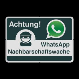 WhatsApp Achtung Nachbarschaftsschutz Verkehrsschild Whats App, WhatsApp, watsapp, preventie, attentie, velserbroek