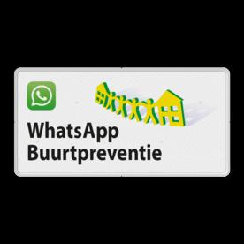 Verkeersbord OV0495 WhatsApp Buurtpreventie - 02 buurt preventie, attentie