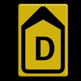 Verkeersbord WIU T201b FLUOR geel/zwart Tekstbord, WIU bord, tijdelijke verkeersmaatregelen, werk langs de weg, omleidingsborden, tijdelijk bord, werk in uitvoering, gevaarlijk terrein, drijf zand