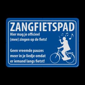 Informatiebord zangfietspad - ontwerp Mapije Herik zangfietspad, je mag zingen op het fietspad