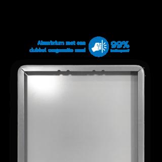 Verwijsbord 1500x350x32mm toeristisch - 2 pictogrammen