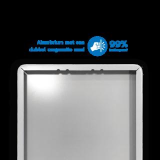 Plattegrond- informatiebord rechthoek 4:3 reflecterend + uw eigen opdruk