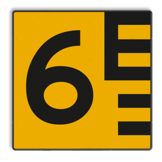 Scheepvaartbord BPR G.5.1 Hoogteschaal - geel/zwart links