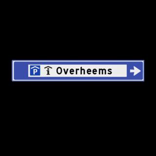 Verwijsbord 1130x175x32mm openbaar - 2 pictogrammen