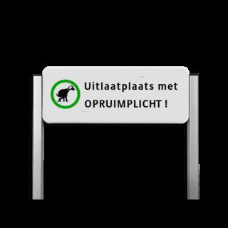 Informatiebord ALUMINIUM unit, Uitlaatplaats met opruimplicht