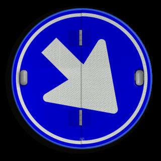 Klapbord - 2 standen - Rond conform RVV