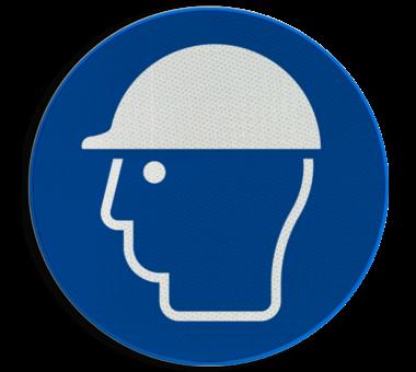 Gebodsbord M014 - Veiligheidshelm verplicht