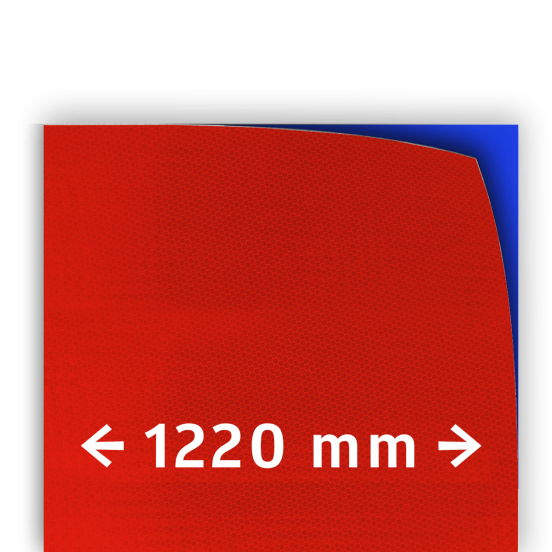 ae77bbe6659 Reflecterende folie T-7508-B klasse 3 rood 1220mm breed reflex,  fluoricerend,