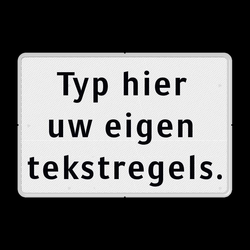 Super Tekstbord wit/zwart 3 regelig - Tekstborden - Informatieborden &EF62