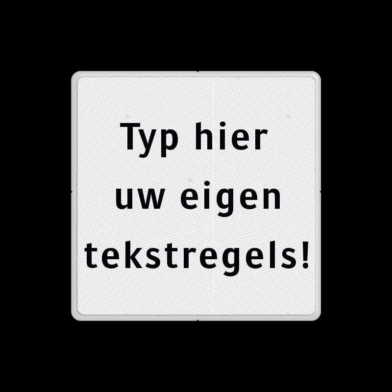 Uitzonderlijk Tekstbord wit/zwart 5 regelig - Tekstborden - Informatieborden #EF75