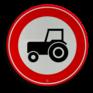 Verkeersbord C08 - Gesloten voor langzaam verkeer