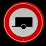 Verkeersbord C10 - Gesloten voor aanhangers