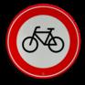 Verkeersbord C14 - Gesloten voor fietsers