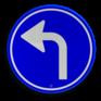 Verkeersbord D05l - Verplichte rijrichting linksaf