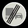 Verkeersbord F04 - Einde inhaalverbod vrachtverkeer