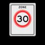 Verkeersbord A01-030zb - Begin zone maximum snelheid 30 km/h