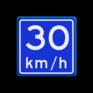 Verkeersbord A04-030 - Adviessnelheid 30 km/h