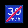 Verkeersbord A05-030 - Einde adviessnelheid 30 km/h