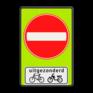 Verkeersbord C02-OB54f - Eenrichtingsweg met uitzondering