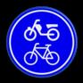 Verkeersbord G12a - Verplicht fiets / bromfietspad