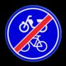 Verkeersbord G12b - Einde verplicht fiets / bromfietspad