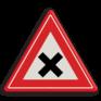 Verkeersbord J08 - Vooraanduiding gevaarlijk kruispunt