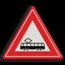 Verkeersbord J14 - Vooraanduiding tramkruising