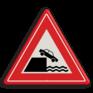 Verkeersbord J26 - Vooraanduiding kade of rivieroever