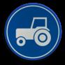 Verkeersbord F11 - Passeerstrook langzaam verkeer