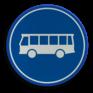 Verkeersbord F13 - Rijbaan of -strook lijnbussen