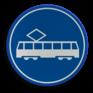 Verkeersbord F15 - Rijbaan of -strook trams