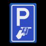 Verkeersbord BW112 - Betaald parkeren