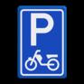 Verkeersbord E08e - Parkeerplaats brommers