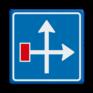 Verkeersbord L09 - Voorwaarschuwing doodlopende weg