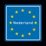 Verkeersbord L403 - Europees Grensbord Nederland