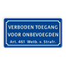 Verkeersbord BT01 -