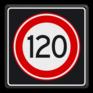 Verkeersbord A01120s - Maximum snelheid 120 km/h