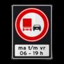 Verkeersbord F03OB206ps - Vrachtverkeer - verboden in te halen