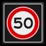 Verkeersbord A0150s - Maximum snelheid 50 km/h