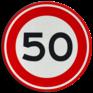 Verkeersbord A01-050 - Maximum snelheid 50 km/h