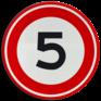 Verkeersbord A01-005 - Maximum snelheid 5 km/h