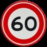 Verkeersbord A01-060 - Maximum snelheid 60 km/h