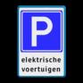 Verkeersbord E04el - Parkeerplaats voor elektrische auto's