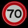 Verkeersbord A01-070 - Maximum snelheid 70 km/h