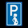 Verkeersbord BT11 - Parkeergelegenheid Zwangere vrouwen